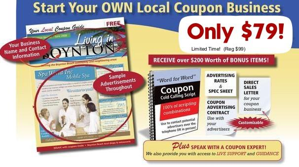 start a local coupon business